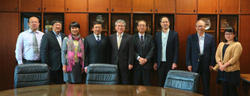 Fig2. Professor She Li and UESTC faculty members visited Dr. Nakano, the Member of the Board of Directors on 18 November, 2016.