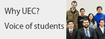 Why UEC? Messages from international students